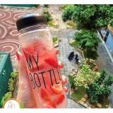Bình nước thuỷ tinh My Bottle 500ml đựng Detox (Màu sắc ngẫu nhiên)