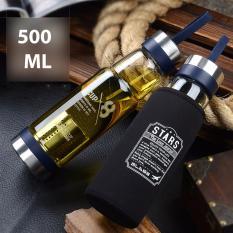 Mua Binh Pha Thuỷ Tinh Chịu Nhiệt Vỏ Day Sieu Cứng Thể Thao 500Ml