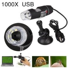 Bkodak store 1000X USB Đèn led Xách Tay Điện Cầm Tay Kính Hiển Vi Kỹ Thuật Số Giá Hút-quốc tế