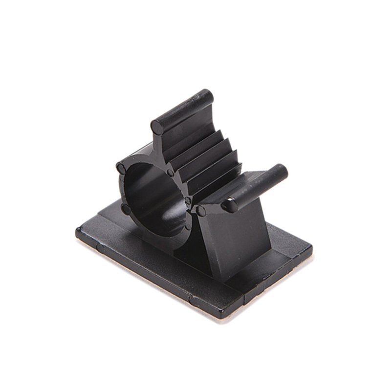 Black10Pcs Adhesive Backed Nylon Wire Adjustable Cable Clips Clamps 13mm - intl - 6