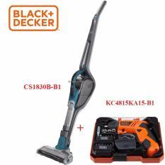 Hình ảnh CS1830B-B1 Black+Decker - Máy hút bụi 18v dùng pin không dây + 4.8V Máy vặn vít dùng pin Black+Decker / Có hộp / KÈM phụ kiện kèm theo CS1830B-KC4815KA15