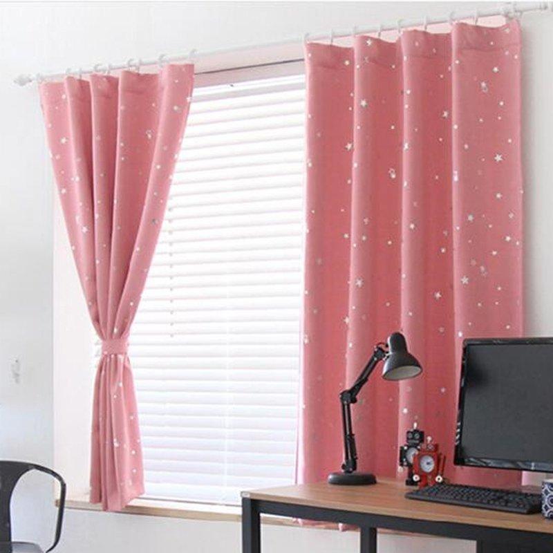 【Crystalawaking】Rèm cửa sổ kín tránh nhiệt màu hồng
