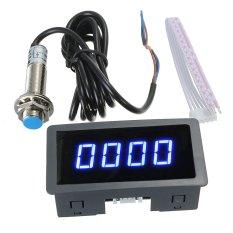 Xanh dương 4 ĐÈN LED Kỹ Thuật Số Tốc Độ Rpm + Tắc Cảm Biến NPN-quốc tế