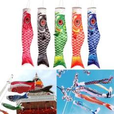 Hình ảnh Xanh dương 70 cm Nhật Bản Tường trang Cá Chép Gió Sock Koinobori Cá Cờ Treo Trang Trí-quốc tế