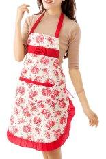 Giá Bán Bluelansa® Phụ Nữ Đầm Nha Bếp Nấu Ăn Tạp Dề Cotton Yếm Họa Tiết Hoa Quốc Tế Nguyên