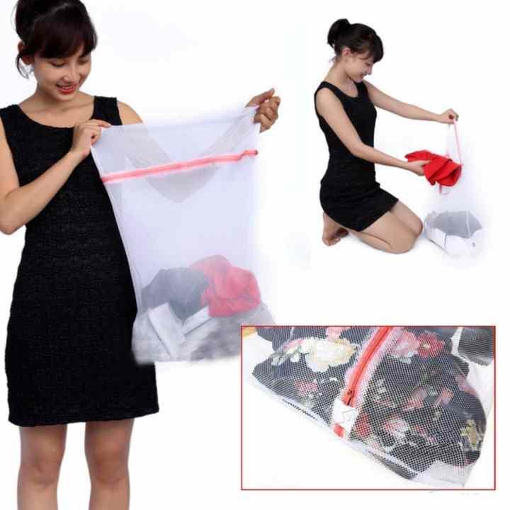 Bộ 02 Túi lưới giặt quần áo cho mẹ và bé (50x60cm)