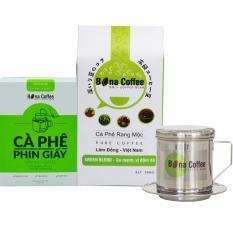 Ôn Tập Bộ 1 Ca Phe Bột Green 1 Hộp Phin Giấy Green Phin Bona Coffee