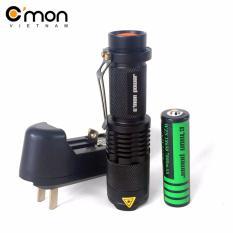 Giá Bán Bộ 1 Đen Pin C Mon Power Traveler Xml T6 1 Pin 1 Sạc Đen Nguyên