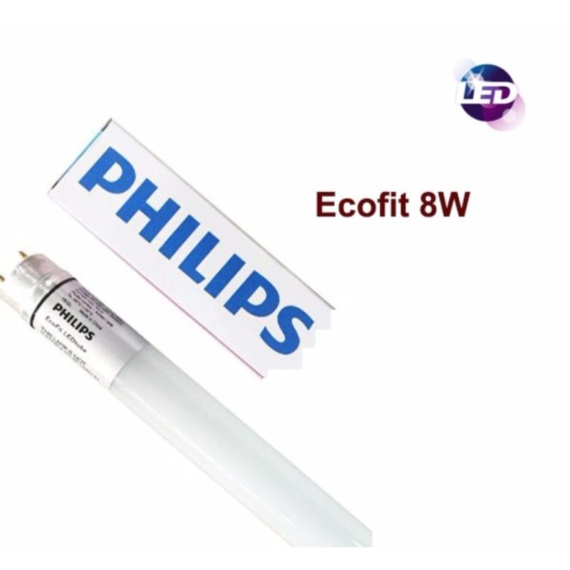 Bộ 10 Bóng đèn LED Tube EcoFit Philips 8W 0,6M (Trắng, Vàng)