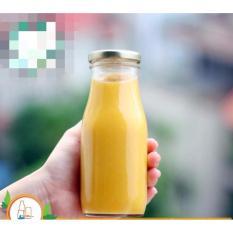 Chiết Khấu Bộ 10 Chai Thuỷ Tinh Lam Sữa Chua Uống Nắp Nhom Xoay 200Ml Có Thương Hiệu