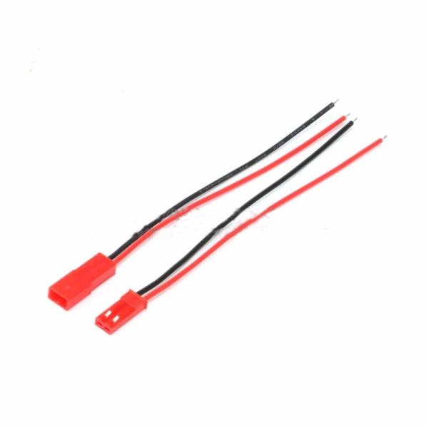 Bộ 10 Dây Nối JST-2P Đỏ (5 Dây Đực - 5 Dây Cái) Chiều dài mỗi dây 10cm, Pin đồng, vật liệu Nylon PA66