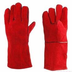 Hình ảnh Găng tay da hàn Pháp màu đỏ 2 lớp - loại dày