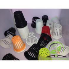 Hình ảnh Bộ 100 cái Rọ Nhựa Trồng Rau Thủy Canh cho ống PVC