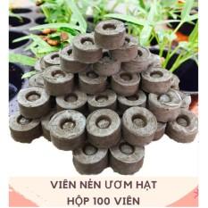 Hình ảnh Bộ 100 viên nén ươm hạt (viên nén xơ dừa)