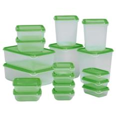 Giá Bán Bộ 17 Hộp Nhựa Đựng Thực Phẩm An Toan Để Tủ Lạnh Nhãn Hiệu Oem