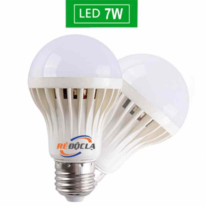 Bộ 2 Bóng đèn Led Bulb 7W Trắng