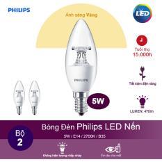 Bán Bộ 2 Bong Đen Philips Led Nến 5 5W 2700K Đuoi E14 230V B35 Anh Sang Vang Trực Tuyến