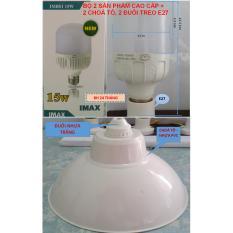 Ôn Tập Bộ 2 Bong Led Bulb 15W Tản Nhiệt Nhom Nguyen Khối Phủ Nhựa Cao Cấp Imax 2 Choa To 2 Đuoi Treo Hồ Chí Minh