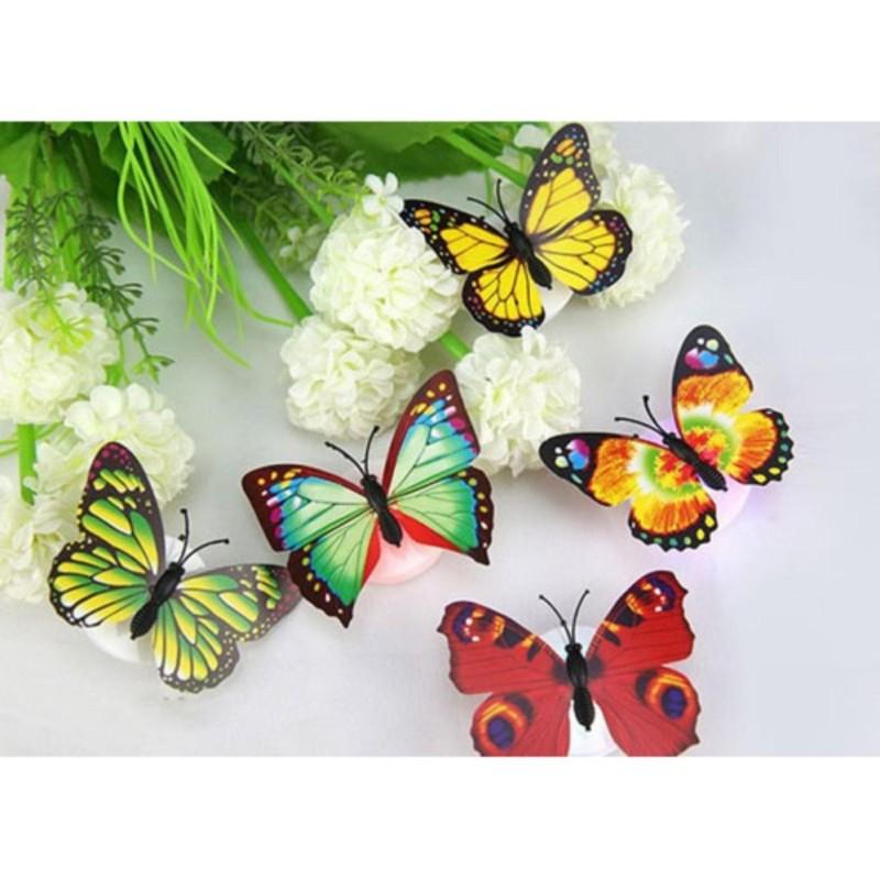 Bảng giá Bộ 2 đèn Led bướm phát quang dán tường
