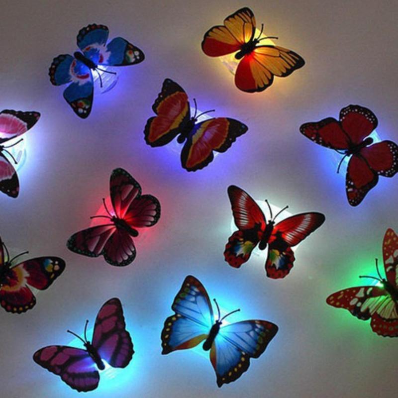 Bảng giá Bộ 2 đèn Led phát quang dán tường hình con bướm