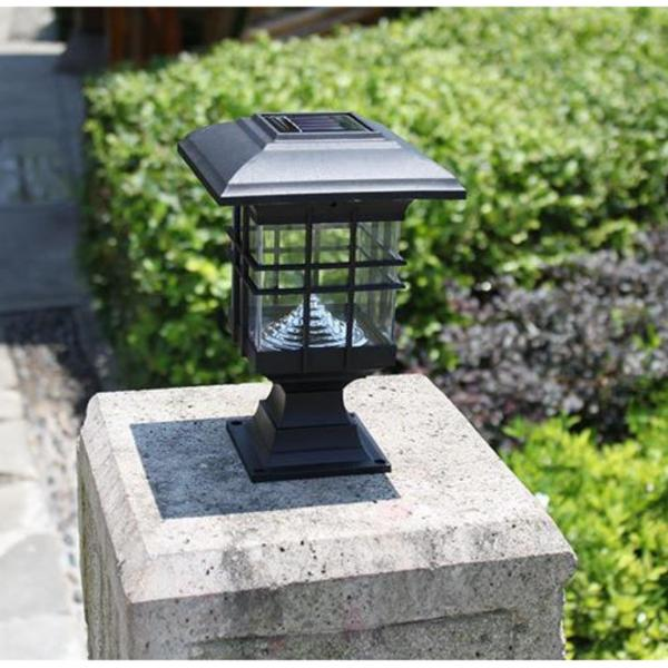 Bộ 2 đèn năng lượng mặt trời LED trụ vuông MTC16