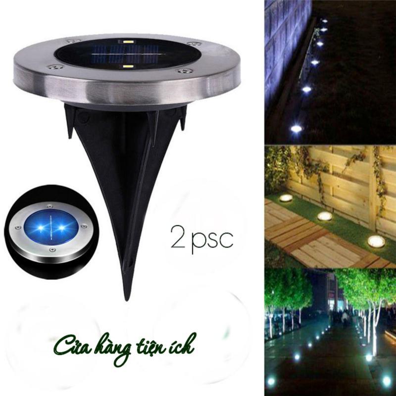 Bộ 2 đèn năng lượng mặt trời trang trí thảm cỏ sân vườn MS13