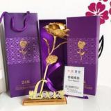 Bán Hai Hộp Hoa Hồng Bấttử Mạ Vang 24K Kem Đế Chữ Love Nguyên