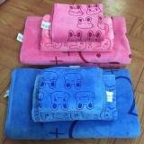 Bộ 2 khăn mặt Thái Lan cao cấp siêu mềm mịn cho mẹ và bé (KIBA)(Xanh dương nhạt)