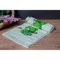 Bộ 2 Khăn Tắm 100 Cotton Cao Cấp Bhome 70X140Cm Gấu Baby Hồng Xanh La Oem Chiết Khấu 50