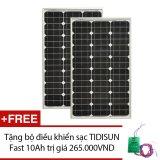 Giá Bán Bộ 2 Tấm Pin Năng Lượng Mặt Trời Tidisun Mono 55W Cpp55W Mono Solar Panel Tặng Bộ Điều Khiển Sạc Tidisun Fast 10Ah Tidisun Nguyên