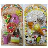 Bán Bộ 2 Vỉ Cục Tẩy Hinh Thức Ăn Eraser Food Sets Mẫu Ngẫu Nhien Có Thương Hiệu Rẻ