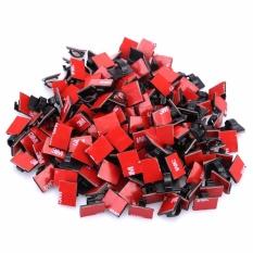 Hình ảnh Bộ 20 Clips - nẹp kẹp dây cáp điện tiện dụng có sẵn keo 3M màu đen 13mmx18mm