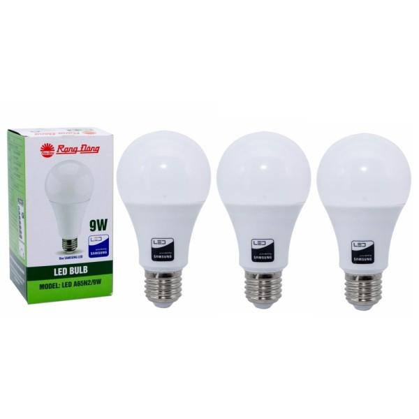 Bộ 3 Bóng đèn LED Bulb Rạng Đông 9W E27 ChipLed