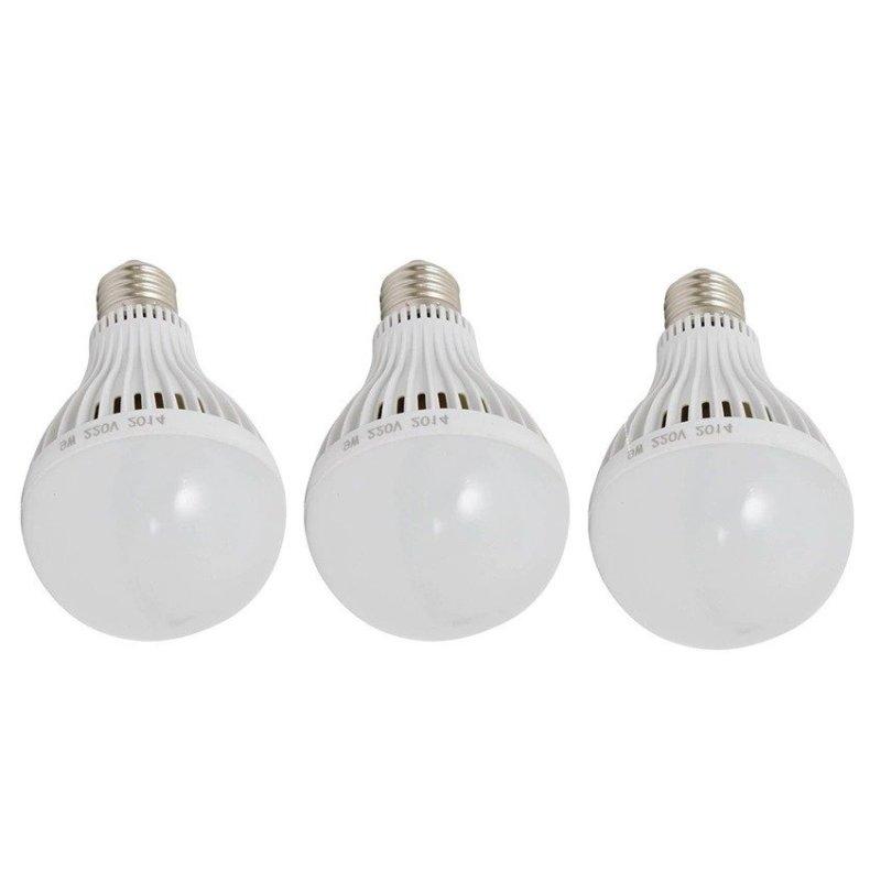 Bộ 3 bóng đèn Led Bulb tích điện thông minh SmartCharge 12W ánh sáng trắng (Trắng)