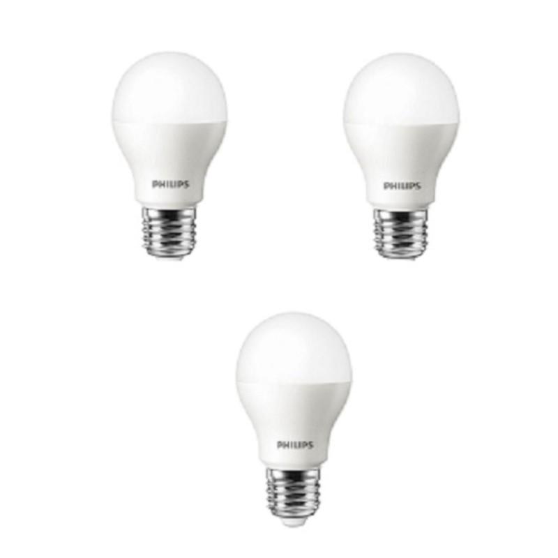Bộ 3 Bóng đèn Philips LED ESS LEDBulb 3W đuôi E27 230V P45 ánh sáng (Trắng,Vàng)