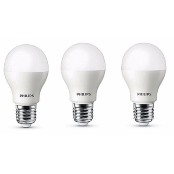 Bộ 3 Bóng đèn Philips LED ESS LEDBulb 7W đuôi E27 230V A60 ánh sáng (Trắng/Vàng)