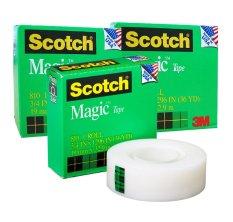 Bộ 3 Cuộn Băng Keo 3M 810 Scotch Magic Tape Trong Hồ Chí Minh