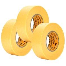 Bộ 3 Cuộn Băng Keo Masking Tape 3M 243J Plus 20Mmx18M Vang 3M Chiết Khấu 50