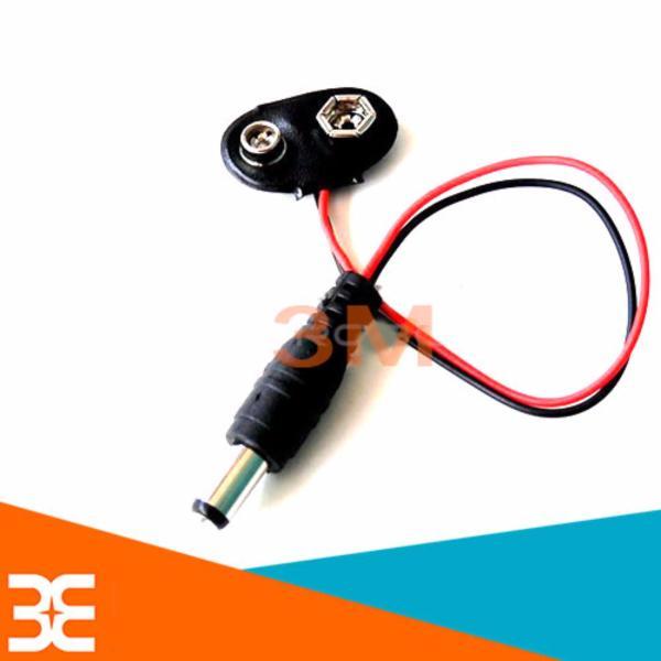 [Tp.HCM] Bộ 3 Dây Tạo Nguồn Từ Pin Vuông 9V sang Jack DC 5.5*2.1mm