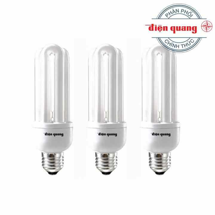 Bộ 3 Đèn Compact Điện Quang-CFL-3U-T4-14W-DL-E27 14W