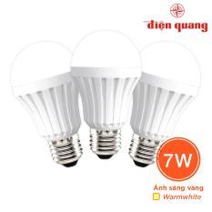 Bán Bộ 3 Đen Led Bulb Than Nhựa Điện Quang Ledbua70 07727 Trực Tuyến