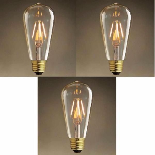Bộ 3 Đèn led Edison T64 4w trang trí nghệ thuật