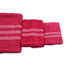 Giá Bán Bộ 3 Khăn Tắm Athena Tieu Chuẩn Nhật Bản Đỏ Mới