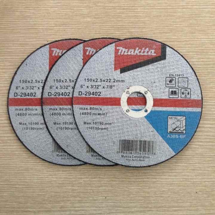 Bộ 3 sản phẩm Đá cắt Makita D-29402 (Đen)