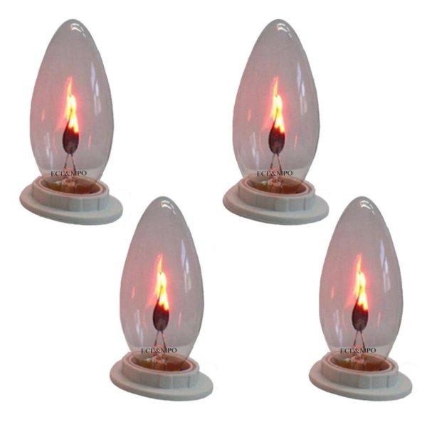 Bộ 4 bóng đèn lửa trang trí 3W - E12
