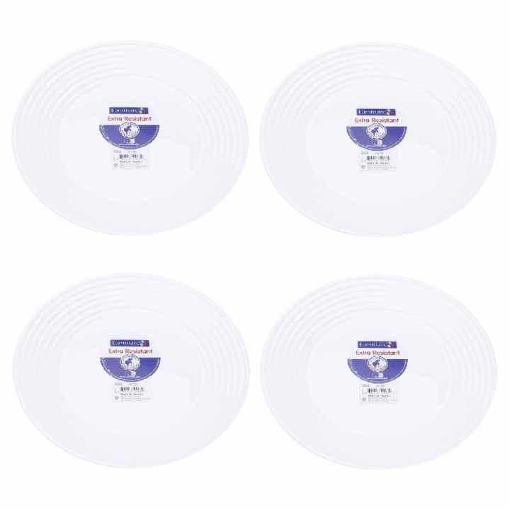 Bộ 4 đĩa thủy tinh Pháp Luminarc Harena 25cm L1839
