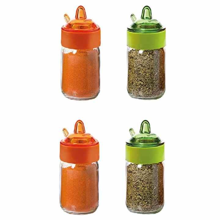 Bộ 4 lọ gia vị 200ml Sauce-Spice Jar Herevin 131505