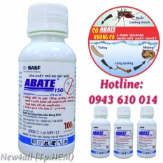 Bộ 4 lọ thuốc diệt bọ gậy, lăng quăng, muỗi ABATE 1SG ngừa sốt xuất huyết hiệu quả (100g)