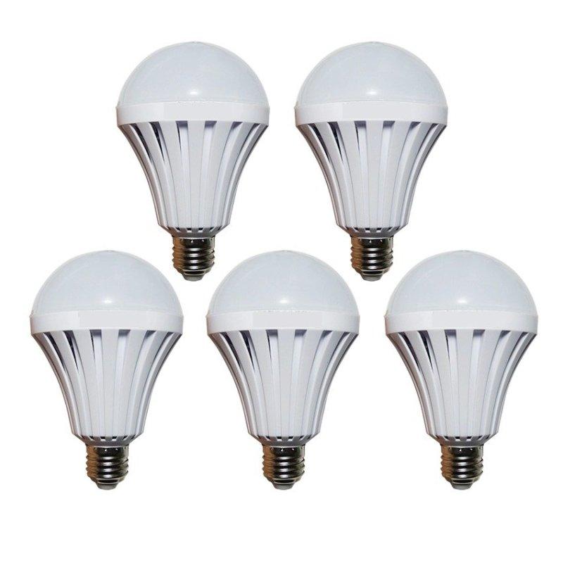 Bộ 5 bóng đèn Led Bulb tích điện thông minh SmartCharge 12W ánh sáng trắng (Trắng)
