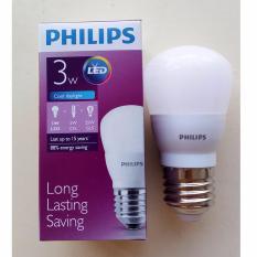 Giá Bán Bộ 5 Bong Đen Led Philips Ledbulb 3W E27 6500K 230V A60 Anh Sang Trắng Hang Phan Phối Chinh Hang Mới Nhất